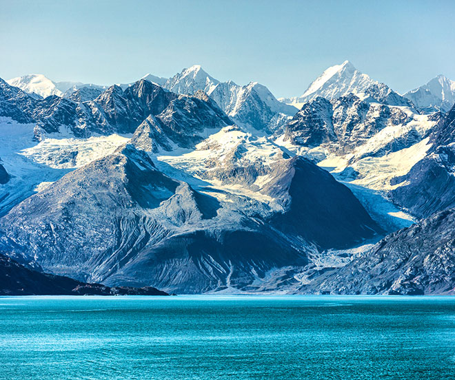 Glacier Bay National Park in Alaska, USA