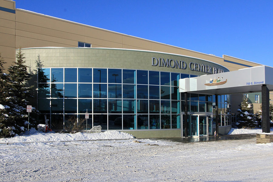 exterior of Dimond Center Hotel